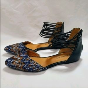 Rampage Cinna Strappy Ankle D'Orsay Flat